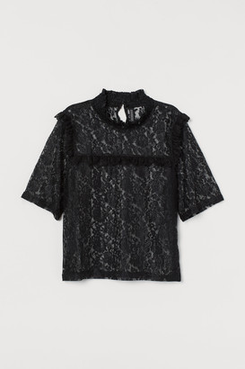 H&M Smock-collar Lace Blouse