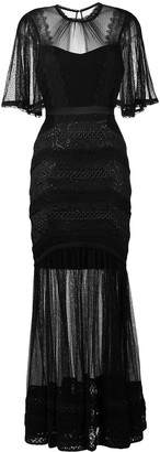 Three floor Villainess sheer dress
