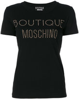 Moschino logo studded T-shirt