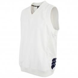 Canterbury of New Zealand Cream Cricket Sleeveless Overshirt