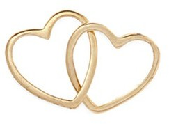 Loquet London 'Linked Hearts' 18k yellow gold charm Always Together