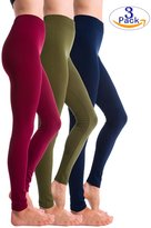 3-Pack Fleece Lined Thick Brushed Leggings by Homma