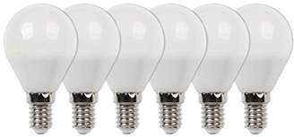 Westinghouse Equivalent Warm White G45 LED Light Bulb with E14 Base, 40 W - Pack of 6