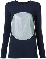 Norma Kamali reflective circle T-shirt - women - Cotton/Polyester/Spandex/Elastane - S