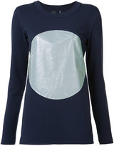 Norma Kamali reflective circle T-shirt