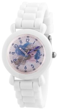 Disney Frozen 2 Elsa Grils' White Plastic Watch, 1-Pack