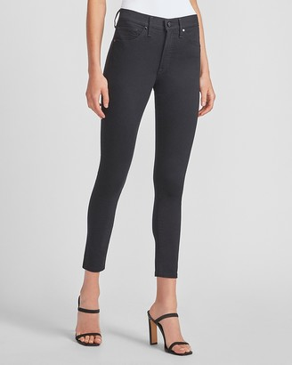 Express Mid Rise Black Skinny Jeans