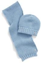 Armani Junior Cotton & Wool Knit Scarf & Hat Set (Baby Boys)