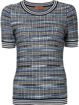 Missoni checked knitted top