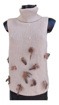 Escada Beige Cashmere Knitwear