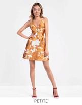 Glamorous Petite Brocade Floral Skater Dress