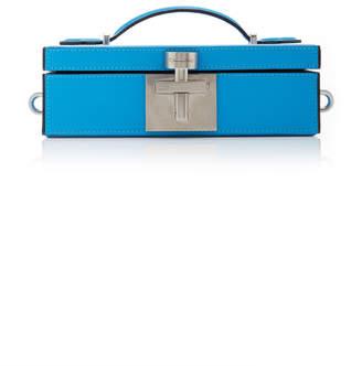 Oscar de la Renta Alibi Leather Minaudiere Box Clutch
