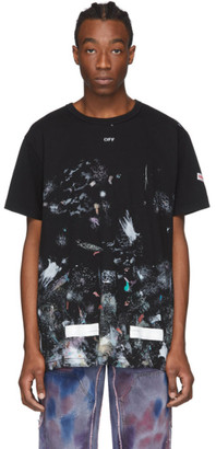 Off-White SSENSE Exclusive Black Galaxy Brush T-Shirt