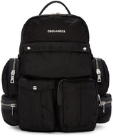 DSQUARED2 Black Multi Pockets Backpack