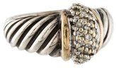 David Yurman Two-Tone Diamond Cable Ring