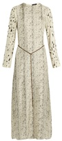 Calvin Klein Collection Hita printed satin-twill maxi dress
