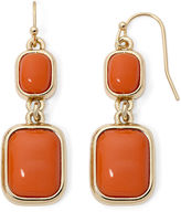 Liz Claiborne Orange Gold-Tone Double-Drop Earrings