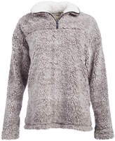 Urban Diction Women's Sweatshirts and Hoodies Charcoal - Charcoal Sherpa Quarter-Zip Pullover - Women