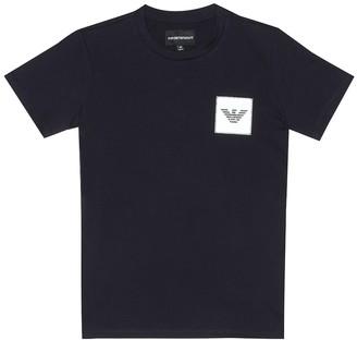 Emporio Armani Kids Logo cotton T-shirt