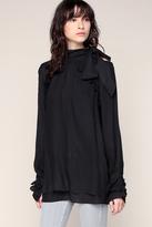 Iro Top Fluide Noir Off Shoulders