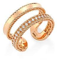 Roberto Coin Women's Double Symphony Diamond and 18K Rose Gold Ring