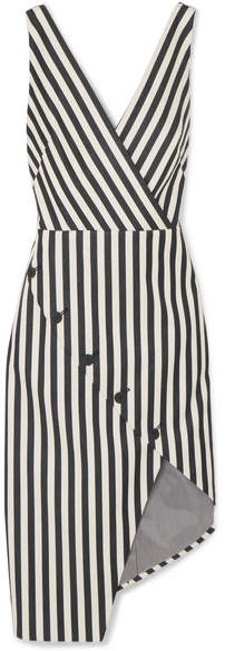 Altuzarra Marceau 不对称条纹棉质混纺连衣裙