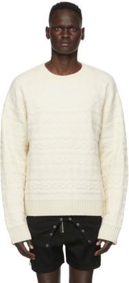 TAKAHIROMIYASHITA TheSoloist. White Wool Fair Isle Sweater