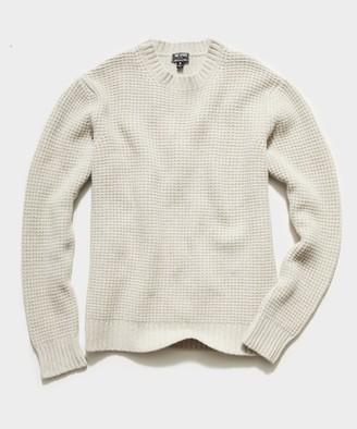 Todd Snyder Recycled Cashmere Crew in Oatmeal