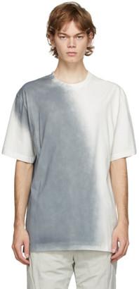 C2H4 White and Grey Sprayed T-Shirt