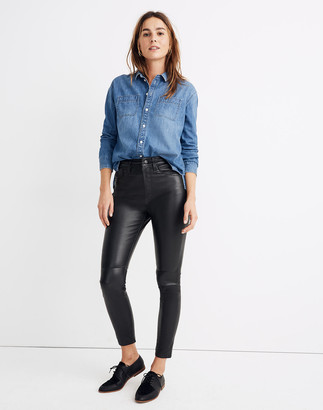 "Madewell 11"" High-Rise Skinny Jeans: Leather Edition"