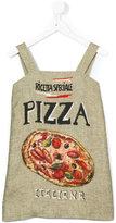 Dolce & Gabbana pizza print dress - kids - Hemp/Linen/Flax/Viscose - 6 yrs