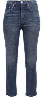 Rag & Bone Faded High-rise Slim-leg Jeans