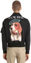 Loewe Print Dog Logo Nylon Bomber Jacket