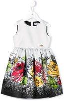 Moschino Kids floral print sleeveless dress