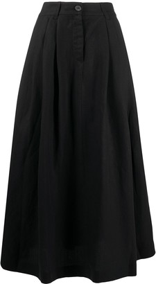 Mara Hoffman Flared Style Pleat Detail Skirt