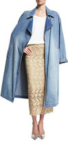 Robert Rodriguez Oversized Denim Trench Coat, Blue