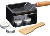 Kitchen Craft MasterClass Artesà Pan with Burner Stand, Black/Beige