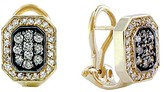 Effy Jewelry Cognac and White Diamond Earrings, .51 TCW