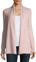 Neiman Marcus Cashmere Open-Front Cardigan, Pink