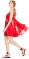 Max Studio Silk Chiffon Draped Dress