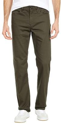 Volcom Solver Five-Pocket Slub Jean (Lead) Men's Casual Pants
