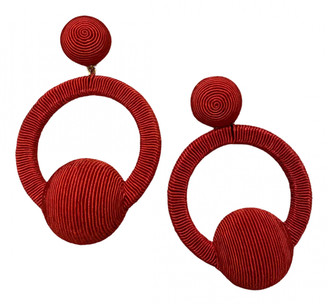 Rebecca De Ravenel Red Cloth Earrings