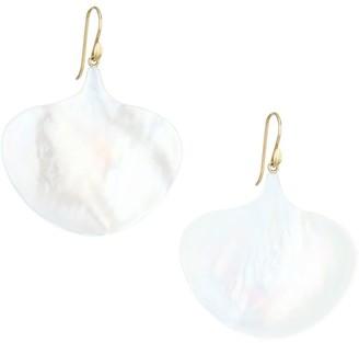 Annette Ferdinandsen 14K Yellow Gold & Mother-Of-Pearl Gingko Leaf Drop Earrings