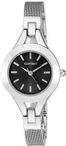 Ellen Tracy Women's Quartz Metal and Stainless Steel Watch, Color:Silver-Toned (Model: ET5176SL)