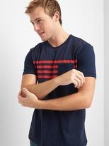 Gap Stripe pocket short sleeve tee