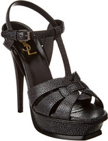 Saint Laurent Tribute 105 Leather Sandal