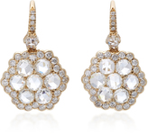 Nam Cho 18K Platinum White Gold Diamond Drop Earrings