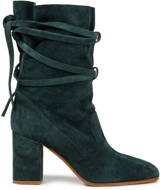Zimmermann Lace-up Suede Ankle Boots