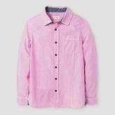 Cat & Jack Boys' Button Down Shirt - Cat & Jack Very Pink Husky