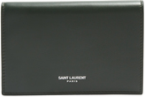 Saint Laurent Front-flap leather cardholder